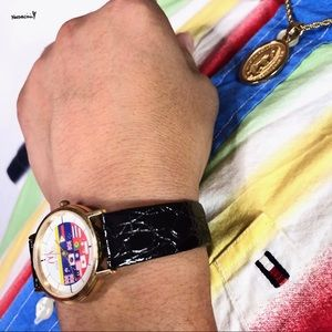 VTG McDonald's Olympics Asia Pacific Leather Watch